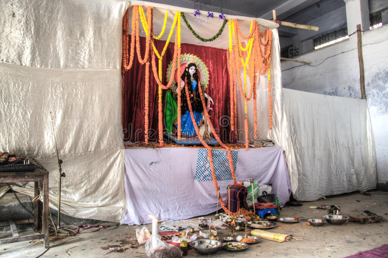 印度寺庙在吉大港,孟加拉国 库存图片