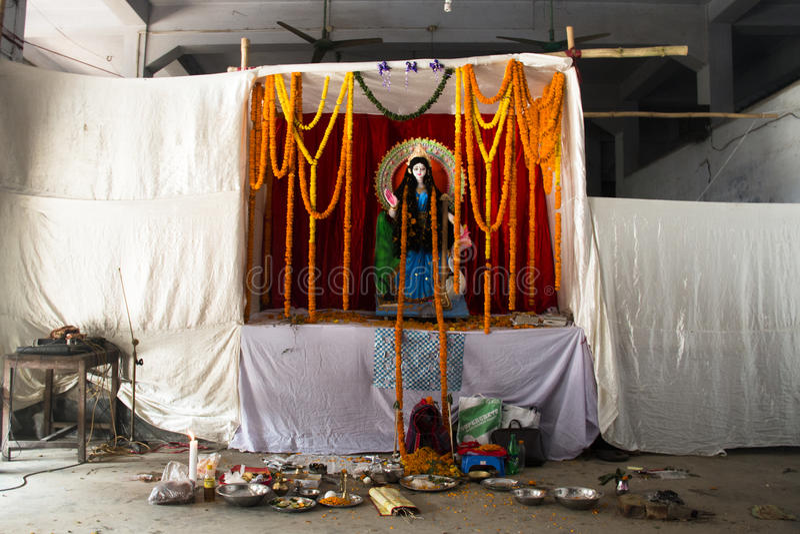 印度寺庙在吉大港,孟加拉国 免版税图库摄影