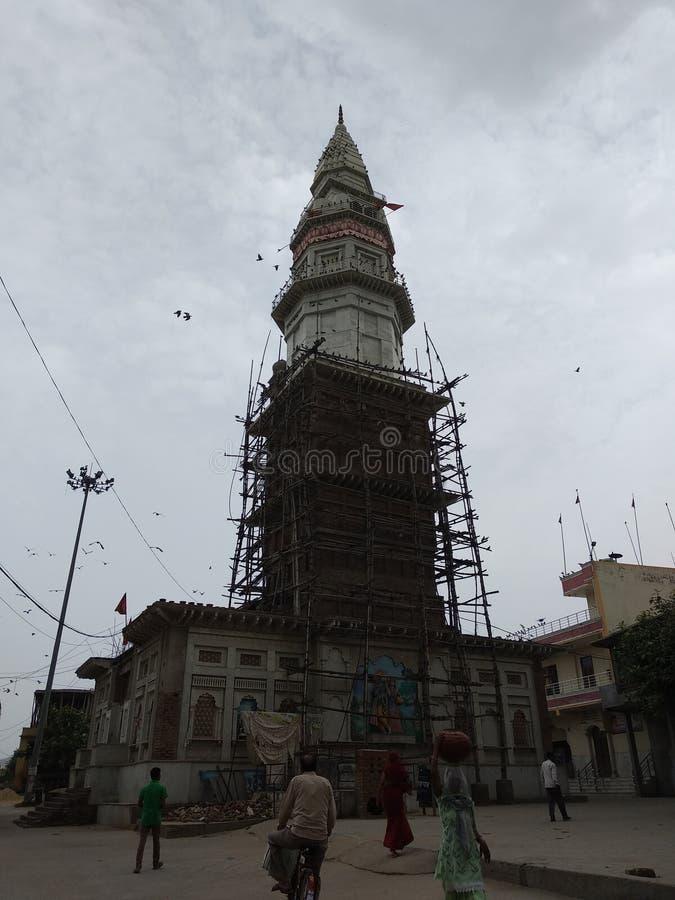 印度寺庙在完成的过程中 图库摄影