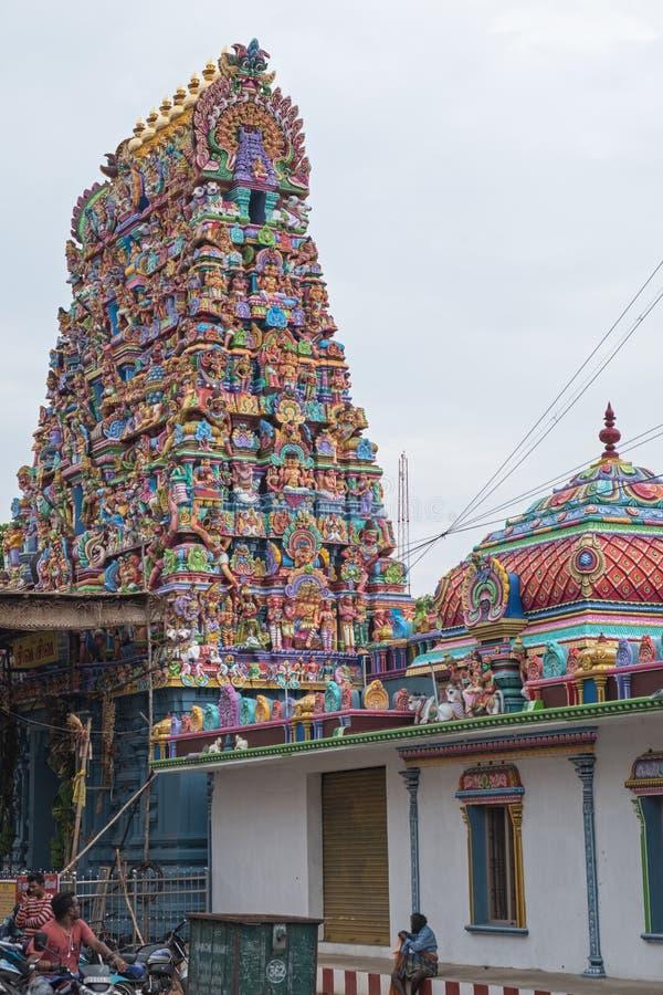 印度寺庙在本地治里市 库存照片