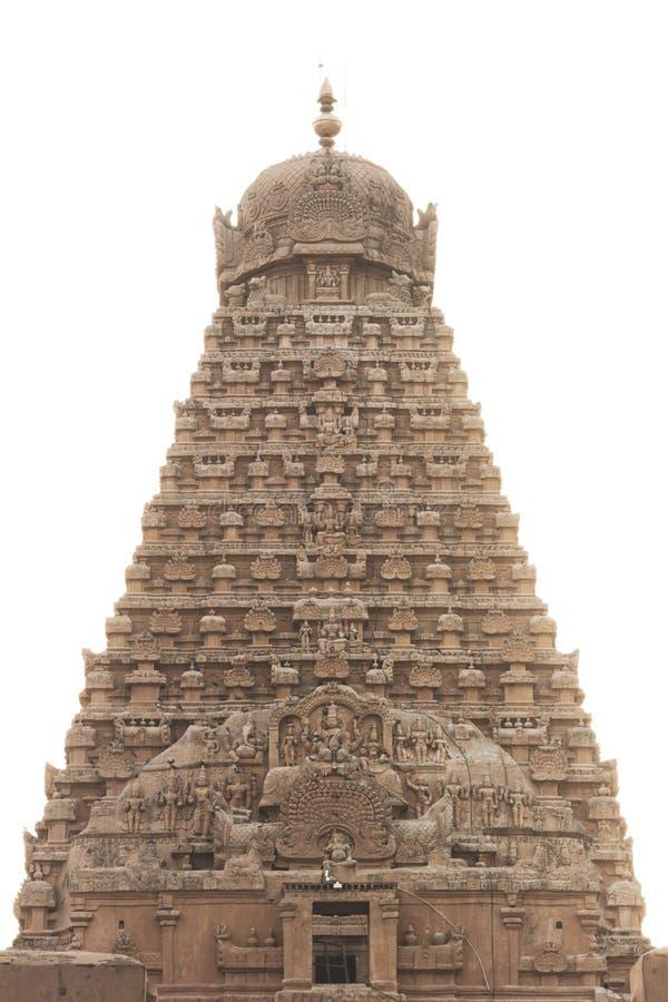 印度寺庙塔秀丽在晴朗的时间的 库存图片