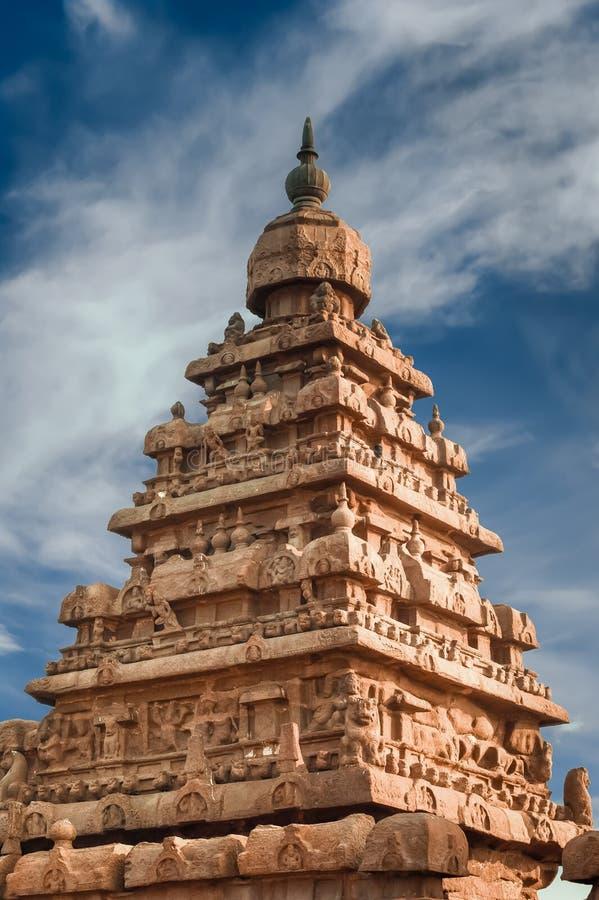 印度寺庙岸寺庙,世界奇迹在泰米尔・那杜 ?? 免版税库存图片