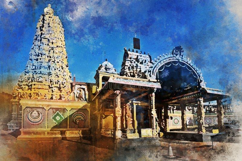 印度寺庙斯里Muthumariamman Thevasthanam在马特莱 图库摄影
