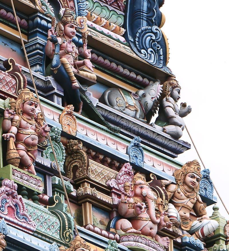 印度寺庙的片段在维多利亚,塞舌尔群岛 库存照片
