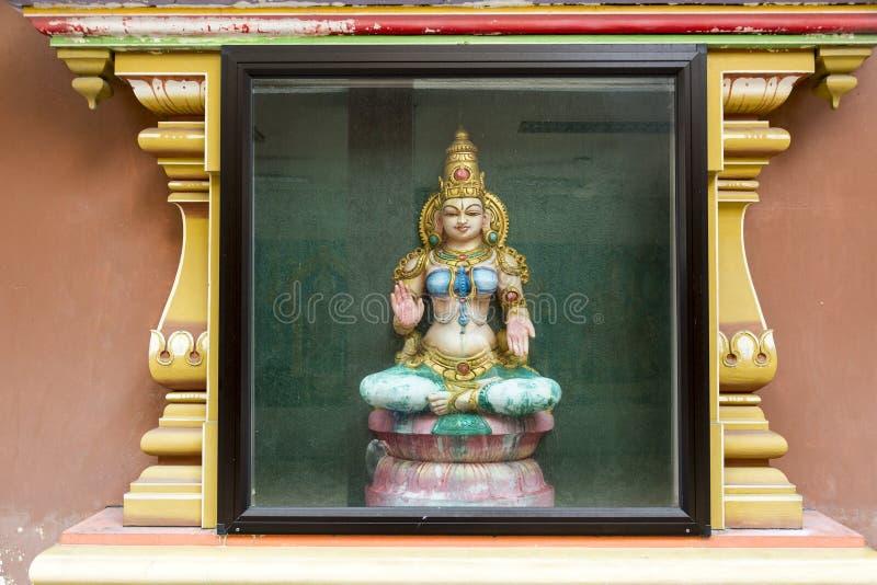 印度寺庙的装饰的细节 免版税库存照片