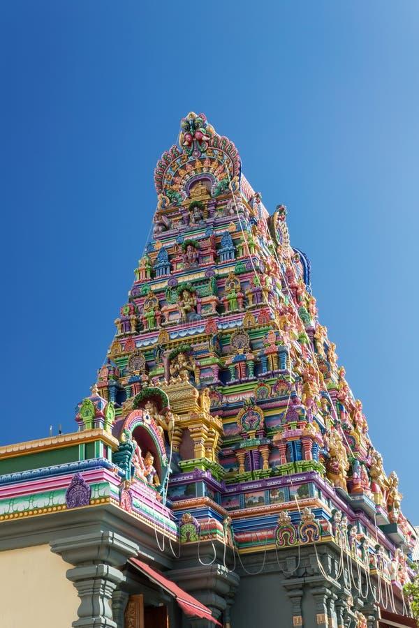 印度寺庙的门面在维多利亚,塞舌尔群岛 库存照片