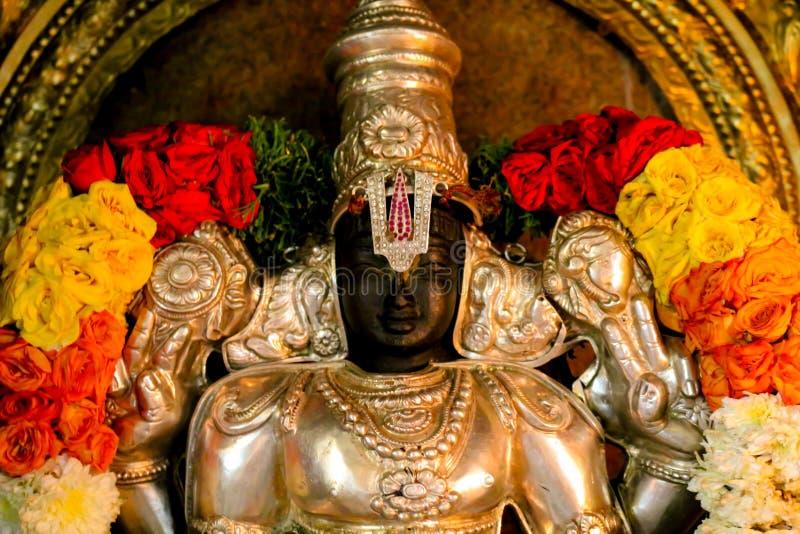 印度寺庙雕象Vishnu 免版税库存图片