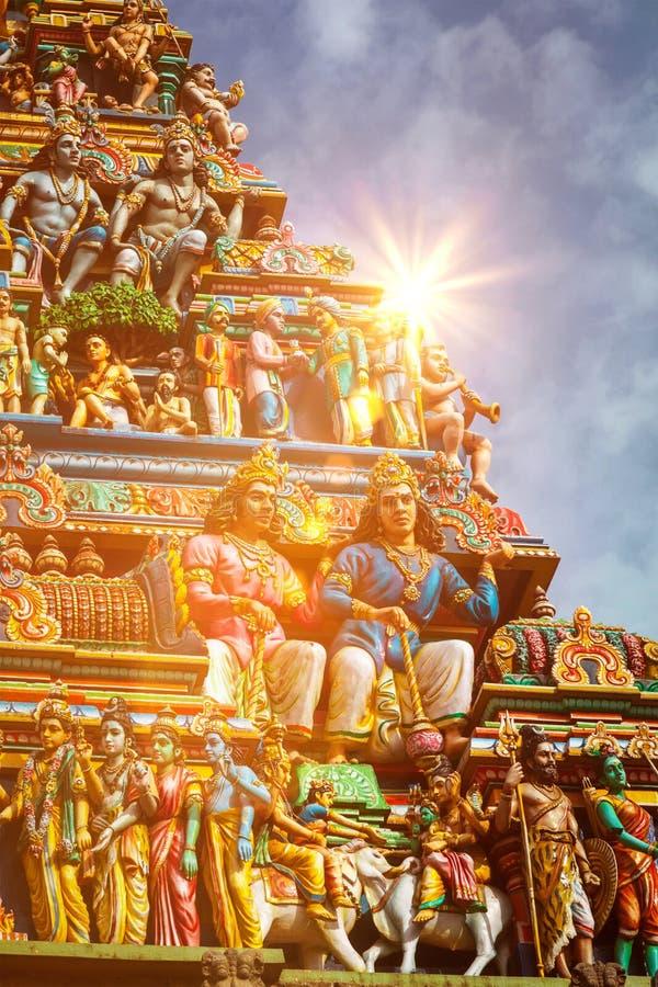 印度寺庙Gopuram塔  免版税库存图片