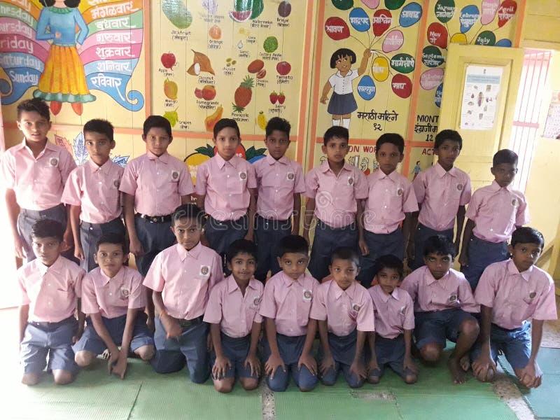 印度小学生 免版税库存照片
