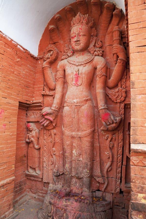 印度尼泊尔pashupatinath雕象寺庙 免版税库存图片