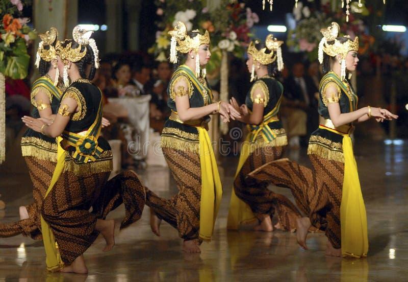 印度尼西亚传统婚礼仪式 图库摄影