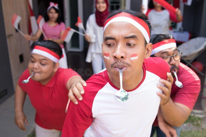 印度尼西亚匙子大理石赛跑 免版税库存图片