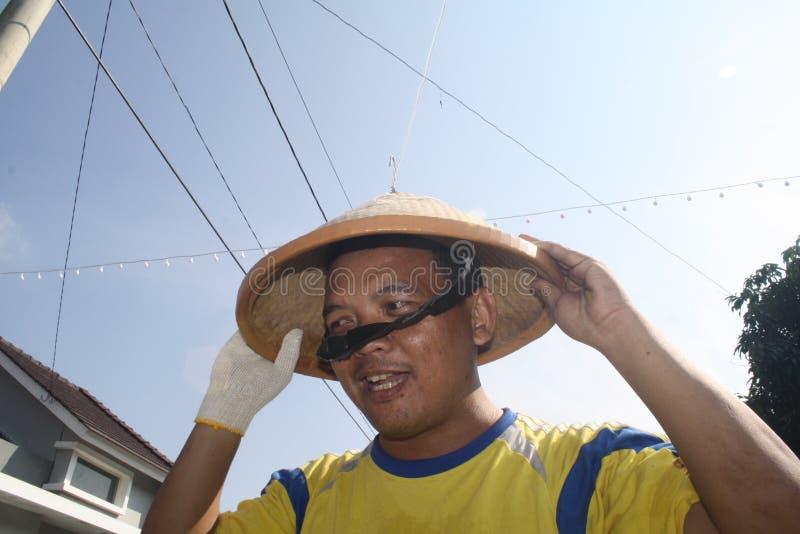 印度尼西亚圆锥形帽子ras 免版税库存图片