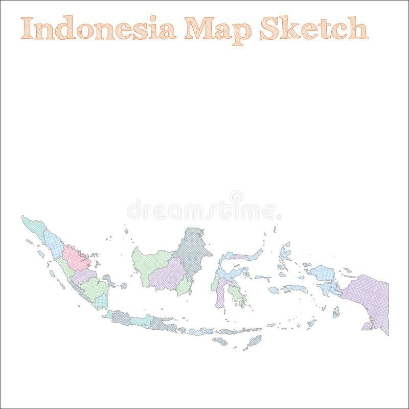 印度尼西亚地图 向量例证