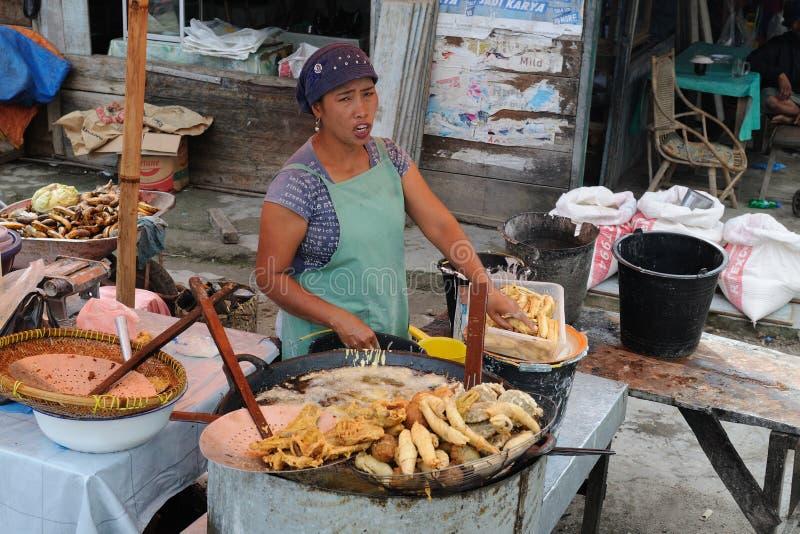 印度尼西亚市场传统部族 图库摄影