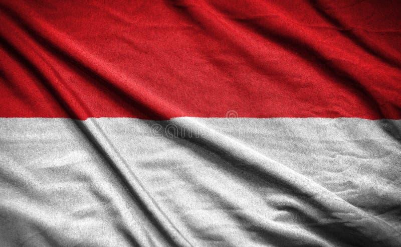 印度尼西亚旗子 在背景的旗子 向量例证