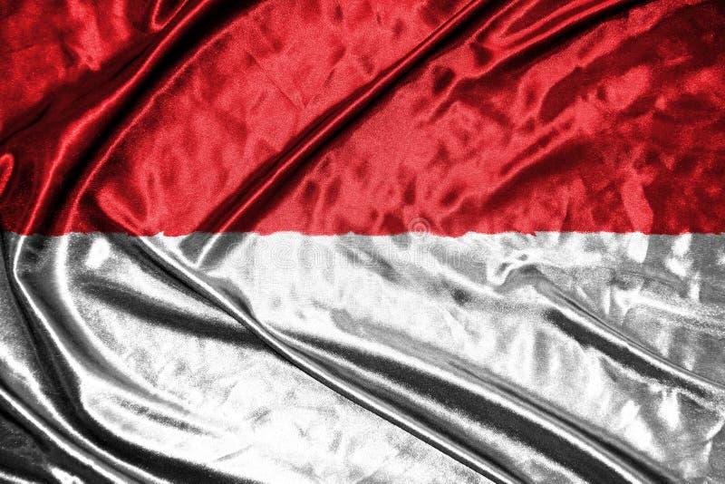印度尼西亚旗子 在背景的旗子 免版税库存照片