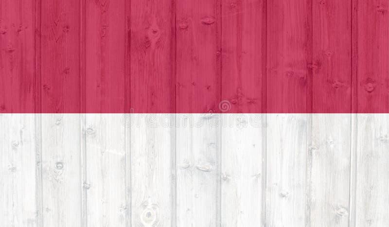印度尼西亚旗子 向量例证