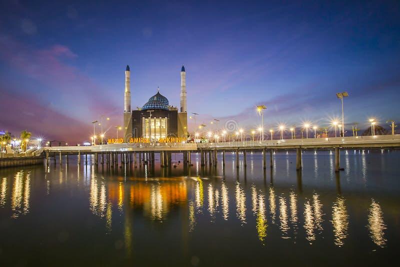 印度尼西亚望加锡浮动清真寺 免版税库存图片