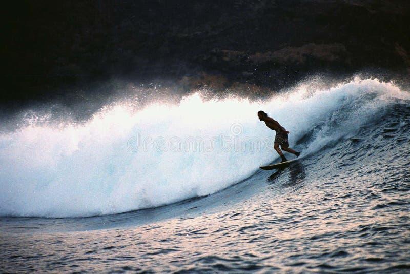 印度尼西亚海浪 免版税库存照片