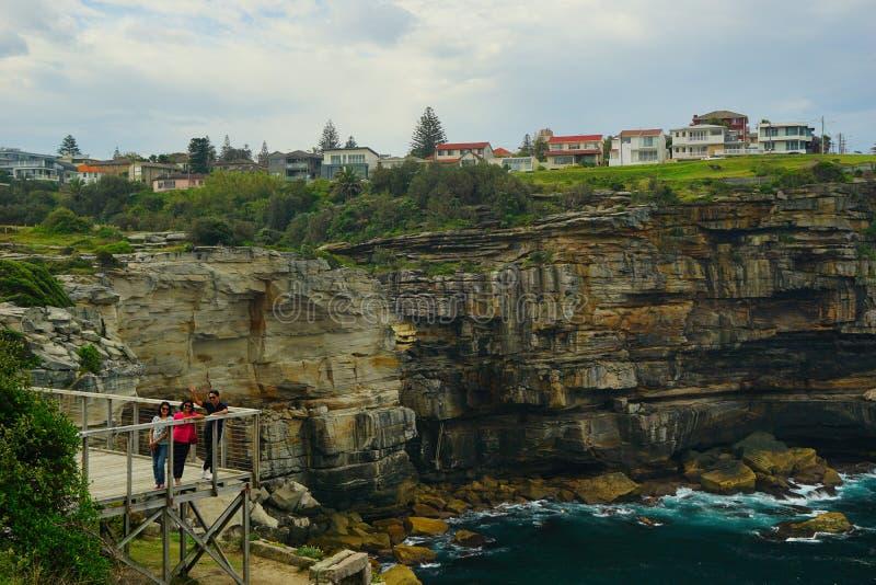 印度尼西亚游人金刚石海湾的在悉尼 库存图片
