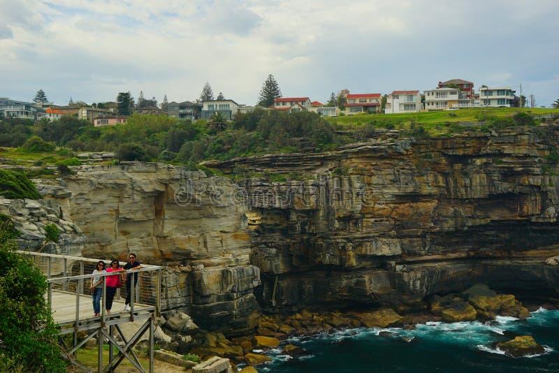 印度尼西亚游人金刚石海湾的在悉尼 库存照片