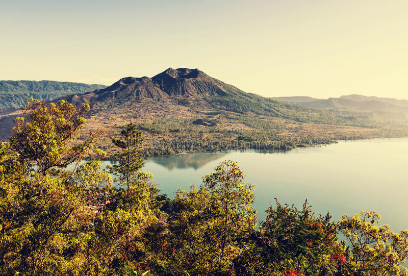 印度尼西亚火山 免版税图库摄影