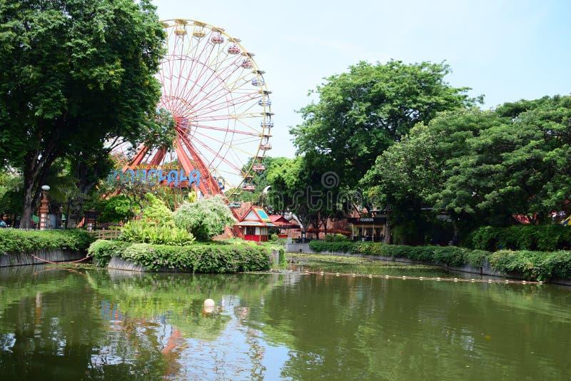 印度尼西亚的游乐车游览 库存照片