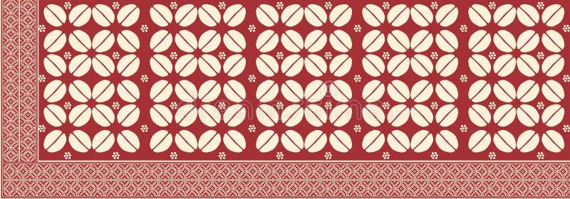 从印度尼西亚的蜡染布 库存例证