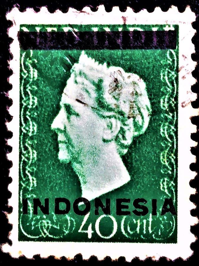印度尼西亚的邮票,内德制片人老邮票 免版税库存照片