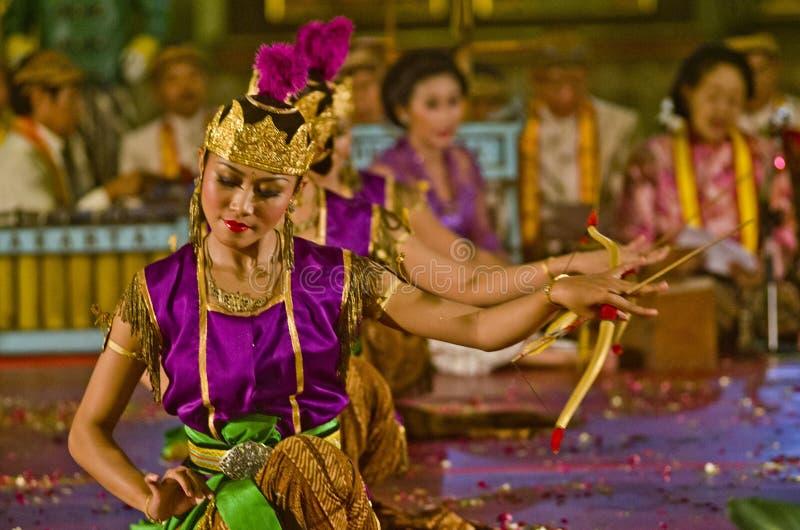 印度尼西亚皇家经典舞蹈 库存照片