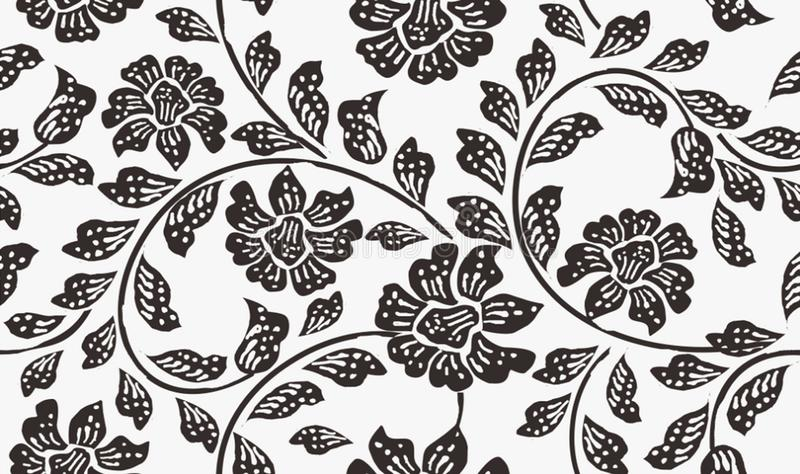 印度尼西亚蜡染布主题,印度尼西亚语的蜡染布:是技术蜡抵抗洗染被申请于整个使用这技术被做的布料或者布料 向量例证