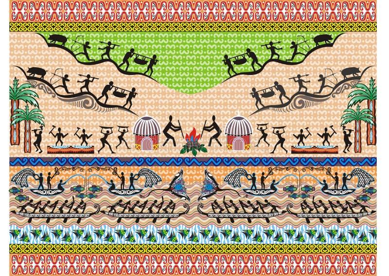印度尼西亚蜡染布主题 库存照片