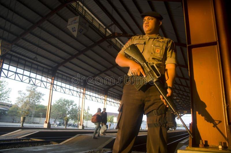 印度尼西亚警察力量 免版税库存图片