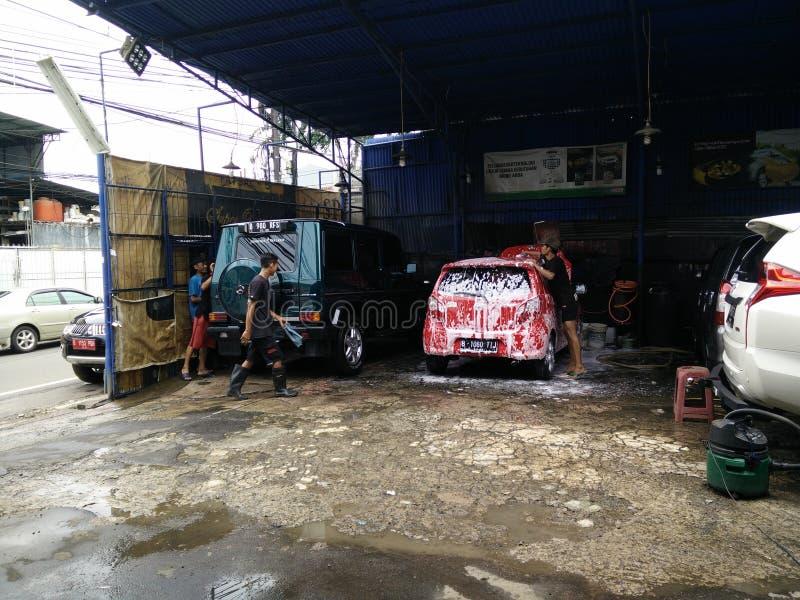 印度尼西亚雅加达 — 2020年3月3日:洗车活动, 免版税图库摄影