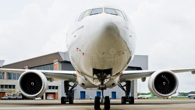 印度尼西亚鹰航空公司飞机 免版税库存照片