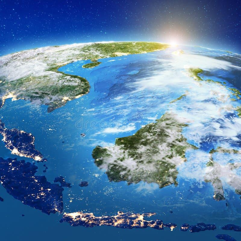 印度尼西亚-苏拉威西岛、加里曼丹、Java、巴厘岛和苏门答腊,海岛 皇族释放例证