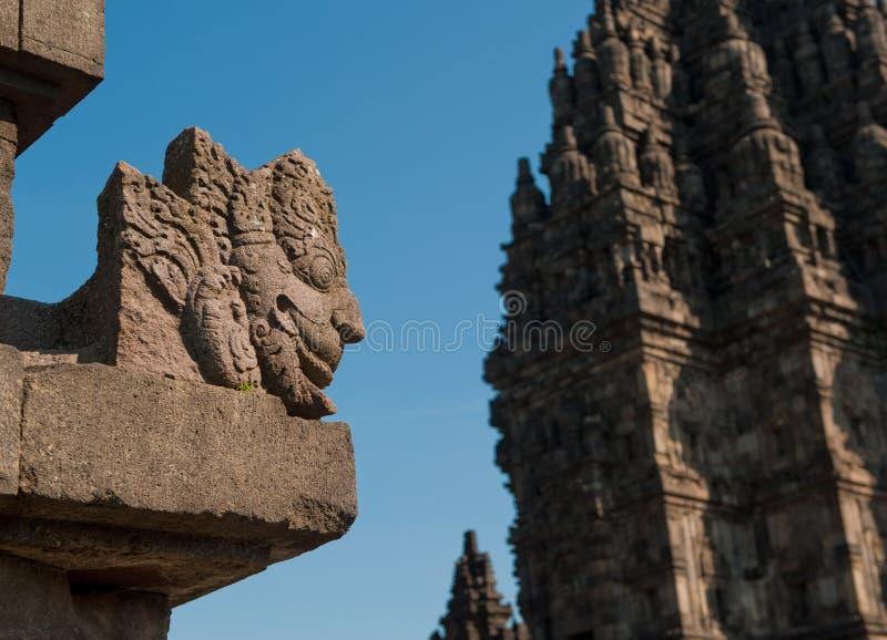 印度尼西亚Java prambanan寺庙 库存照片