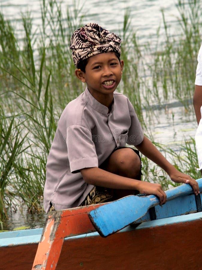 印度巴厘语的男孩 免版税库存照片