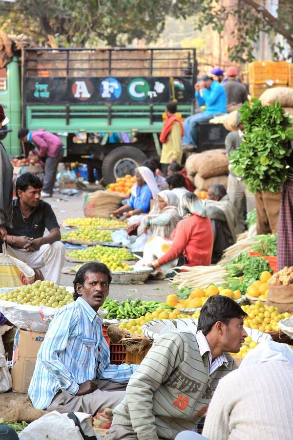 印度市场产物场面蔬菜 库存照片