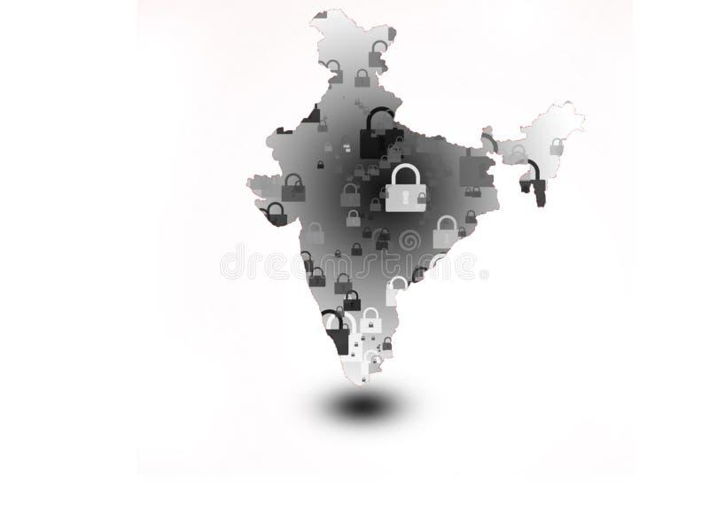 印度总理下令,在21天内关禁 库存照片
