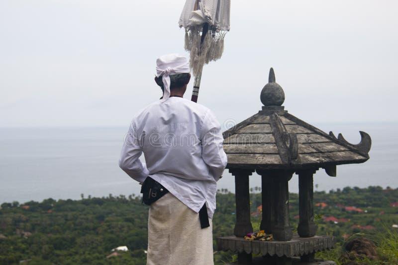 印度教士在巴厘岛,印度尼西亚 免版税库存图片