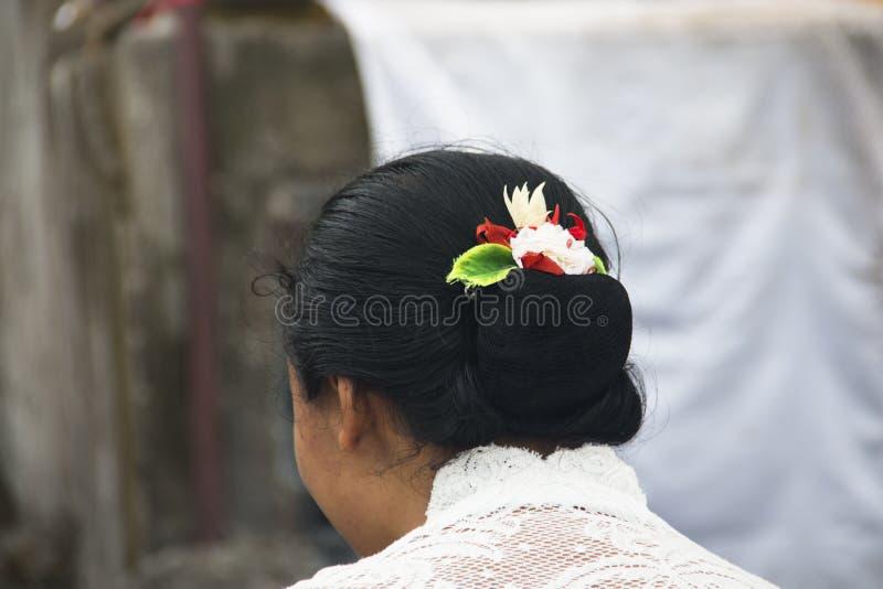 印度教士在巴厘岛,印度尼西亚 库存照片