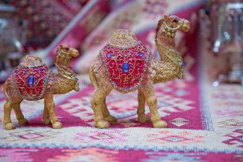 印度文化中常用的装饰骆驼,用作纪念品 美伦骆驼纪念品 免版税库存照片