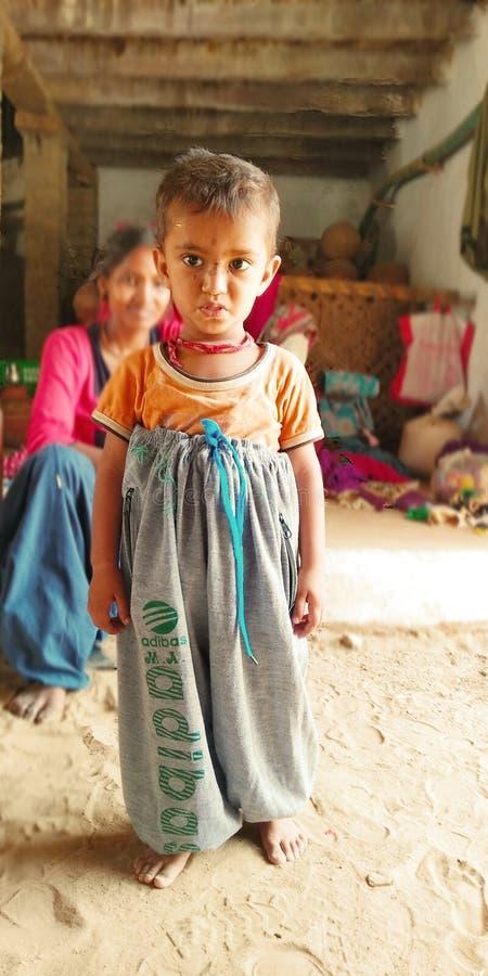 印度文化滑稽的选矿什么maumant婴孩滑稽的选矿 免版税库存照片