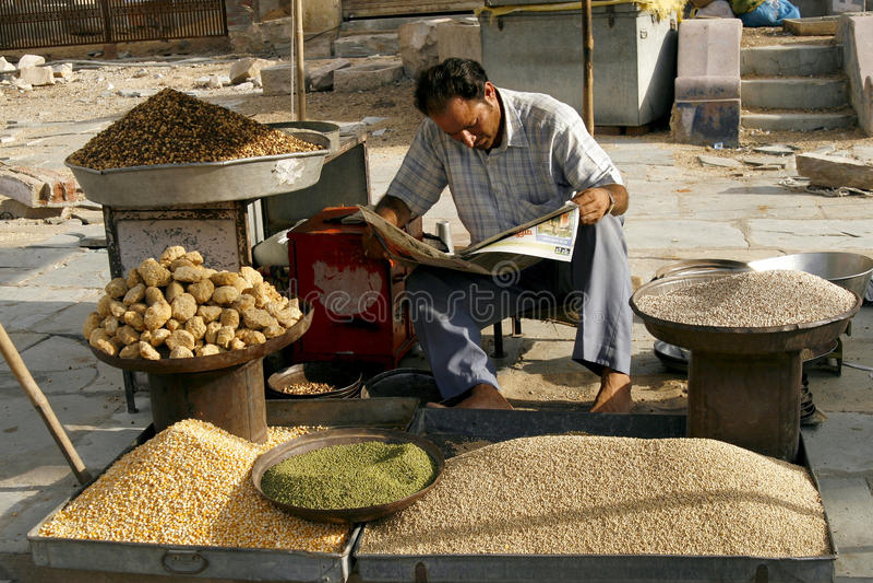 印度斋浦尔市场 库存图片