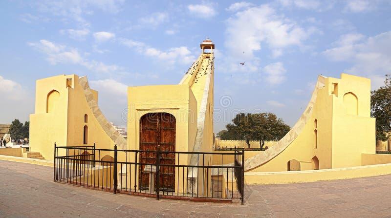 印度斋浦尔jantar mantar观测所 免版税库存图片