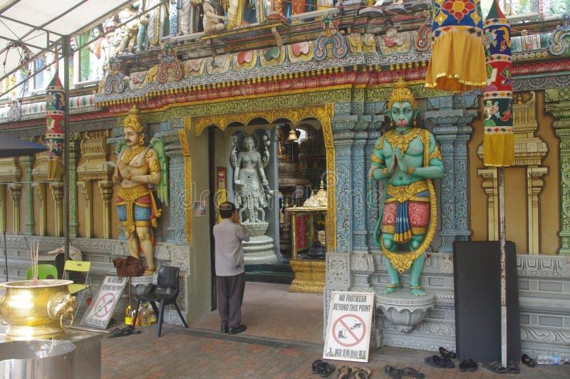 印度新加坡寺庙 免版税库存图片