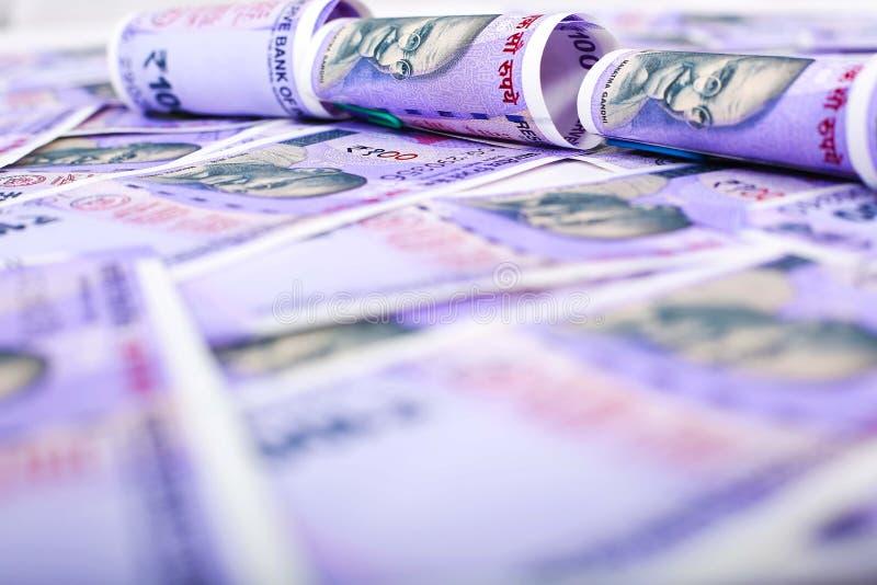 印度新的货币笔记一百卢比 免版税库存照片