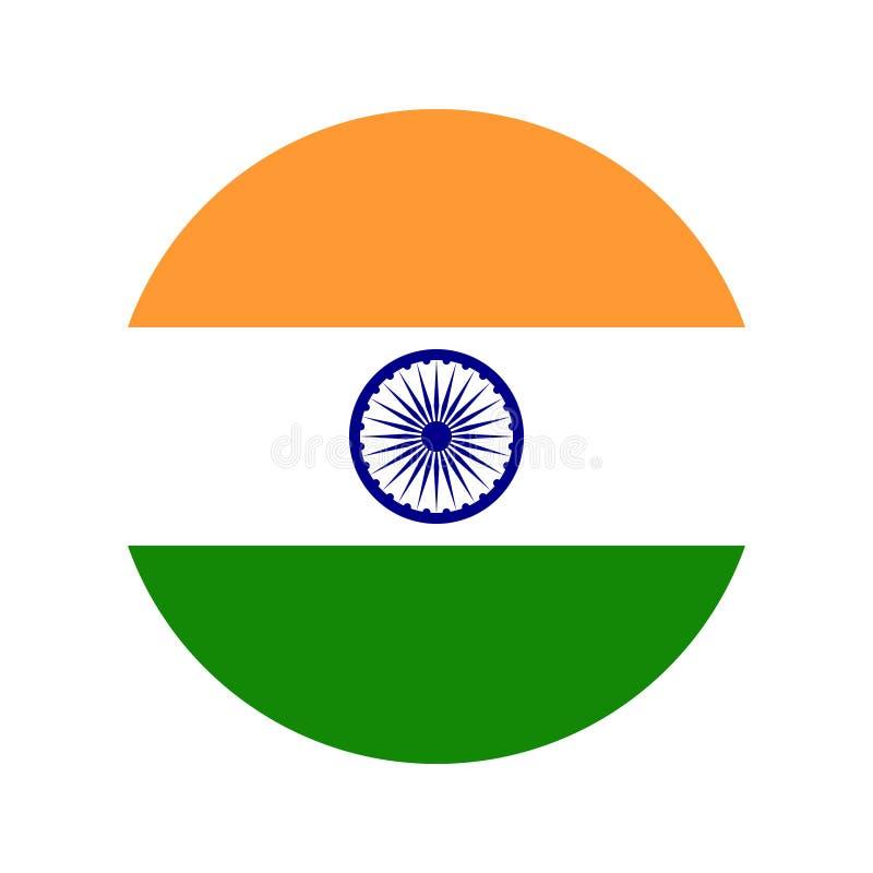 印度旗子象传染媒介孤立印刷品例证 库存例证